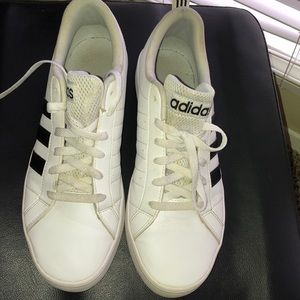 Men's black and white low top adidas